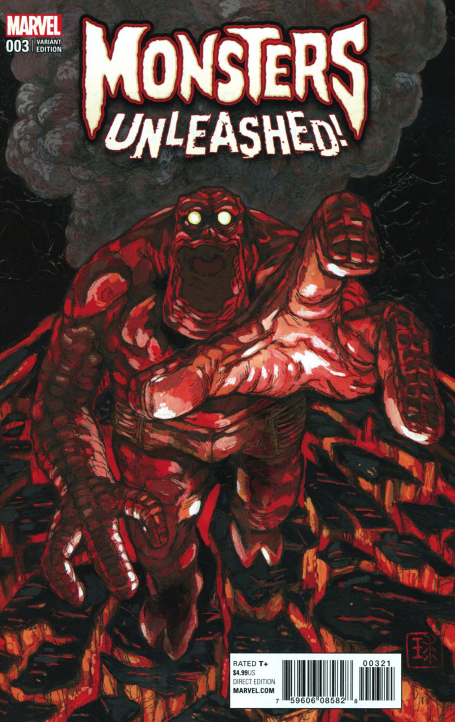 Monsters Unleashed #3 Cover B Variant Q-Hayashida Cover