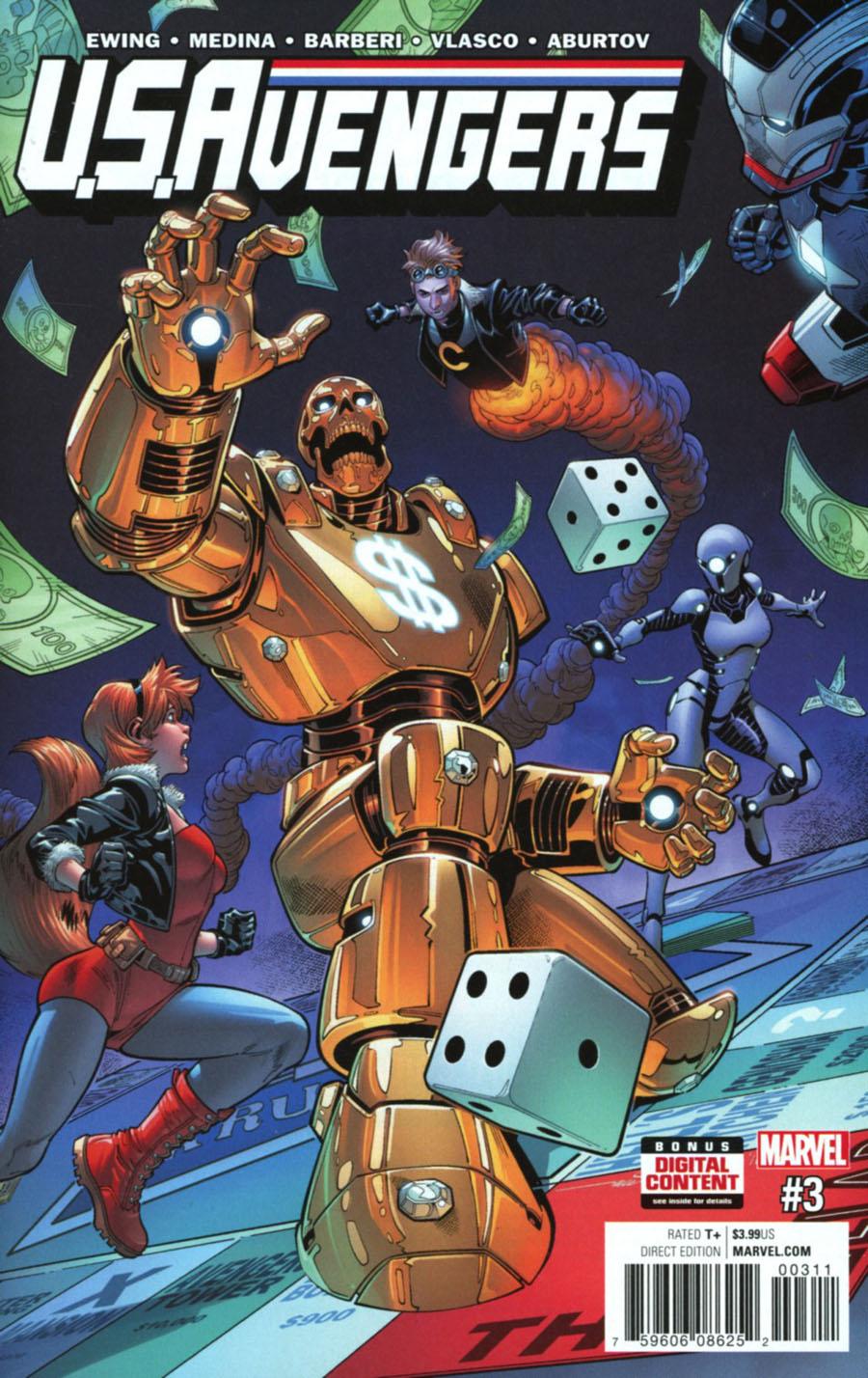 U.S.Avengers #3 Cover A Regular Paco Medina Cover