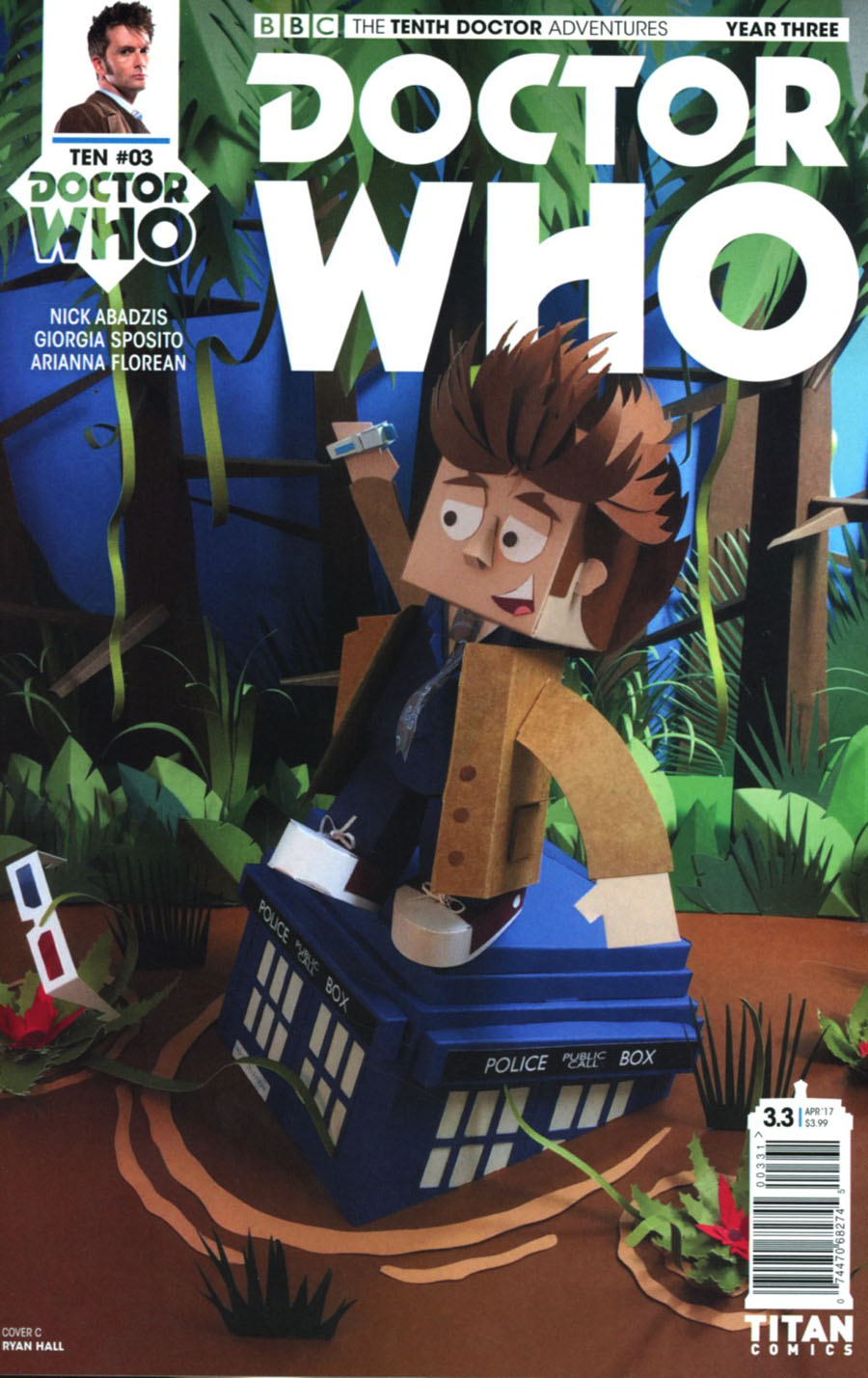 Doctor Who 10th Doctor Year Three #3 Cover C Variant Papercraft Cover