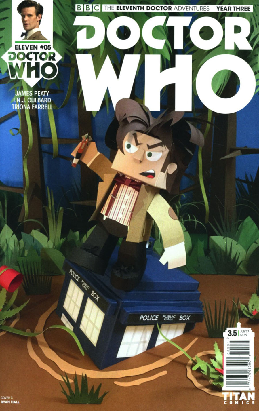 Doctor Who 11th Doctor Year Three #5 Cover C Variant Papercraft Cover