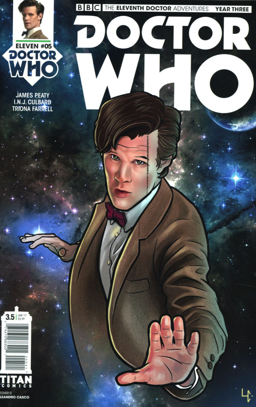 Doctor Who 11th Doctor Year Three #5 Cover D Variant Leandro Casco Cover