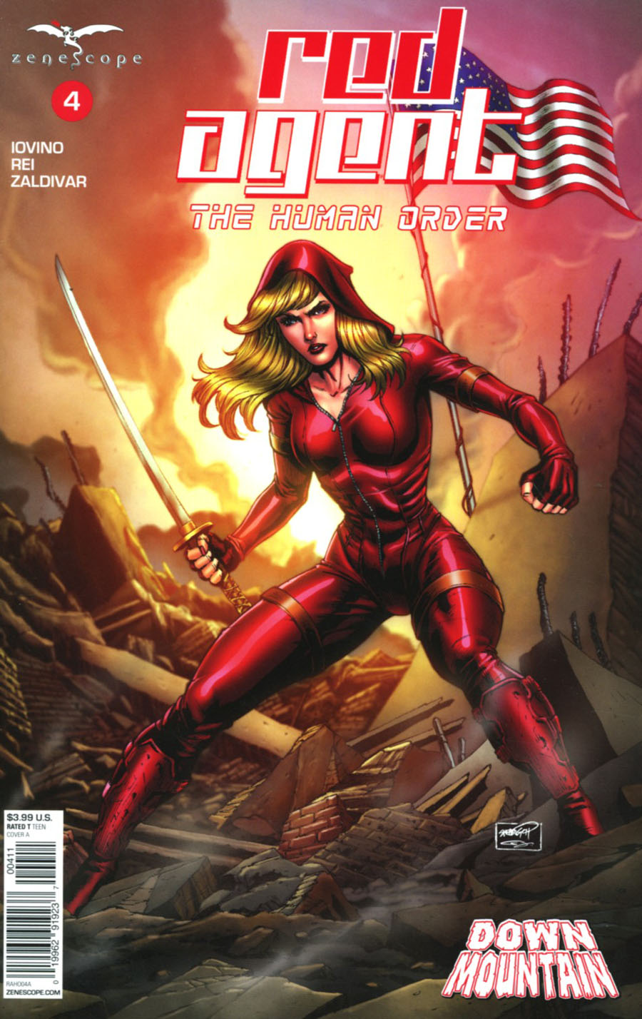 Grimm Fairy Tales Presents Red Agent Human Order #4 Cover A Sheldon Goh