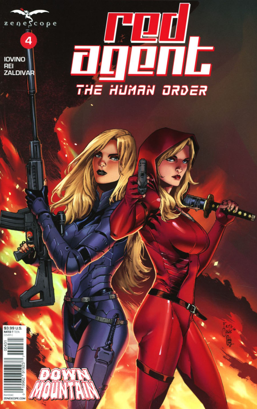 Grimm Fairy Tales Presents Red Agent Human Order #4 Cover C Fritz Casas