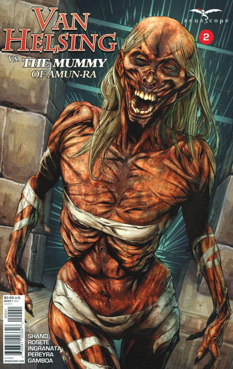 Grimm Fairy Tales Presents Van Helsing vs The Mummy Of Amun-Ra #2 Cover D Antonio Bifulco