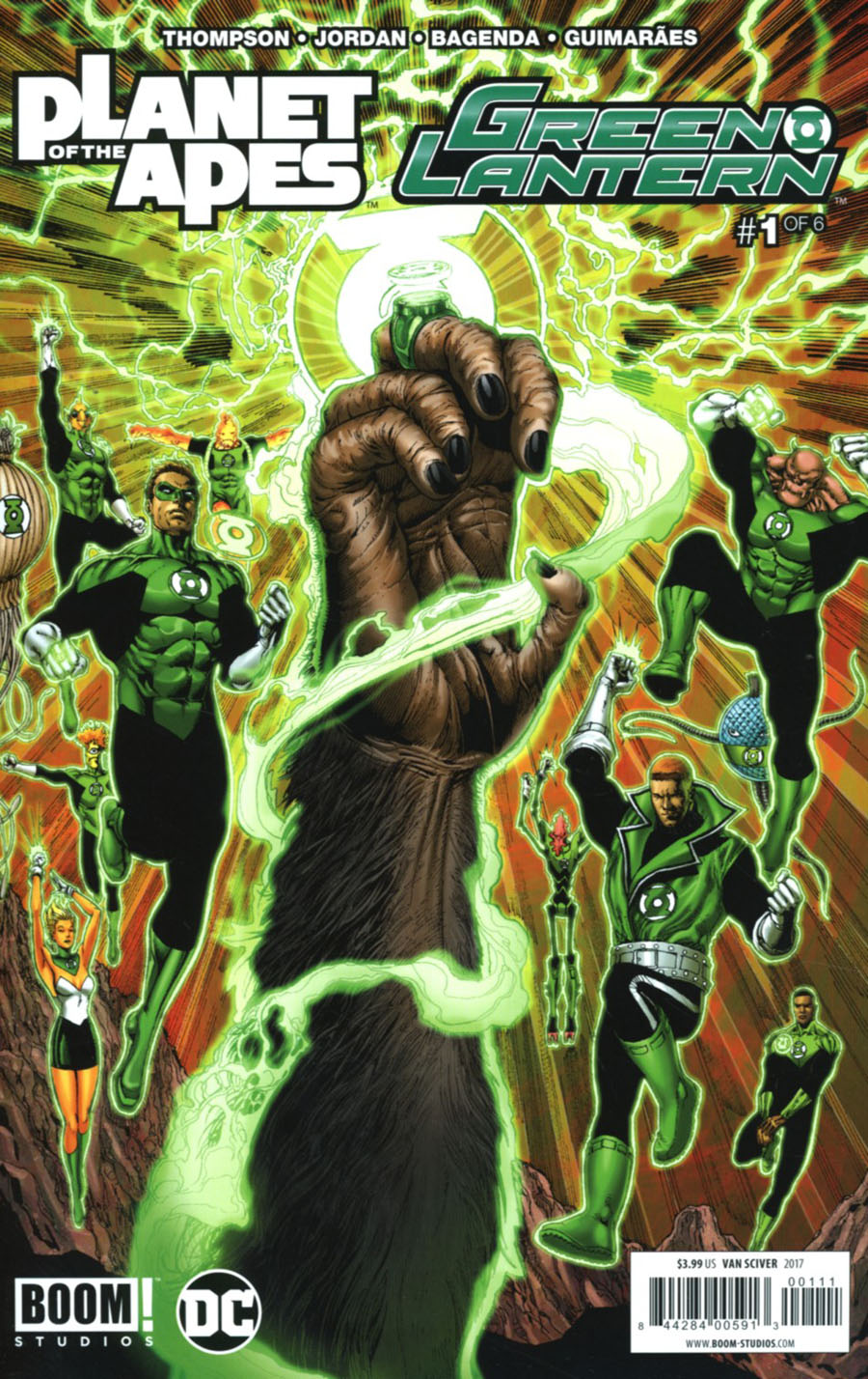 Planet Of The Apes Green Lantern #1 Cover A Regular Ethan Van Sciver Cover