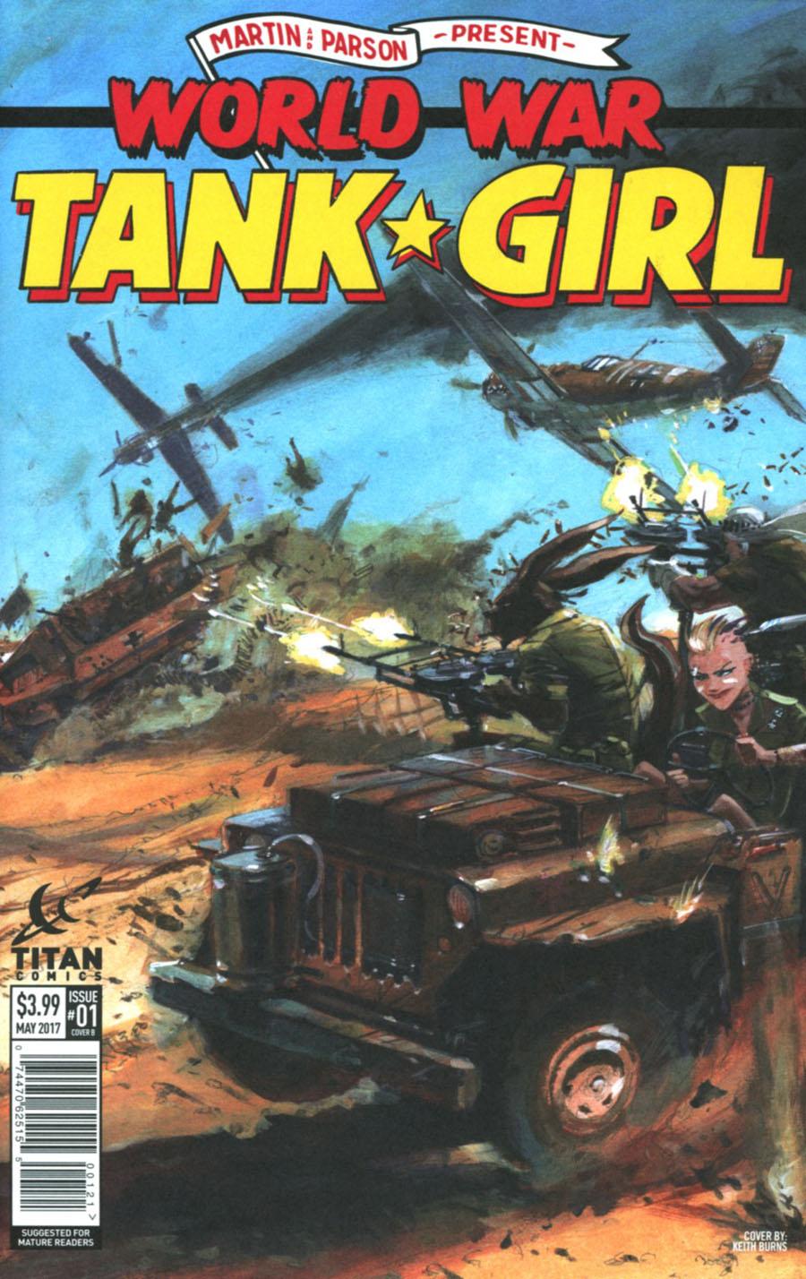Tank Girl World War Tank Girl #1 Cover B Variant Keith Burns Cover