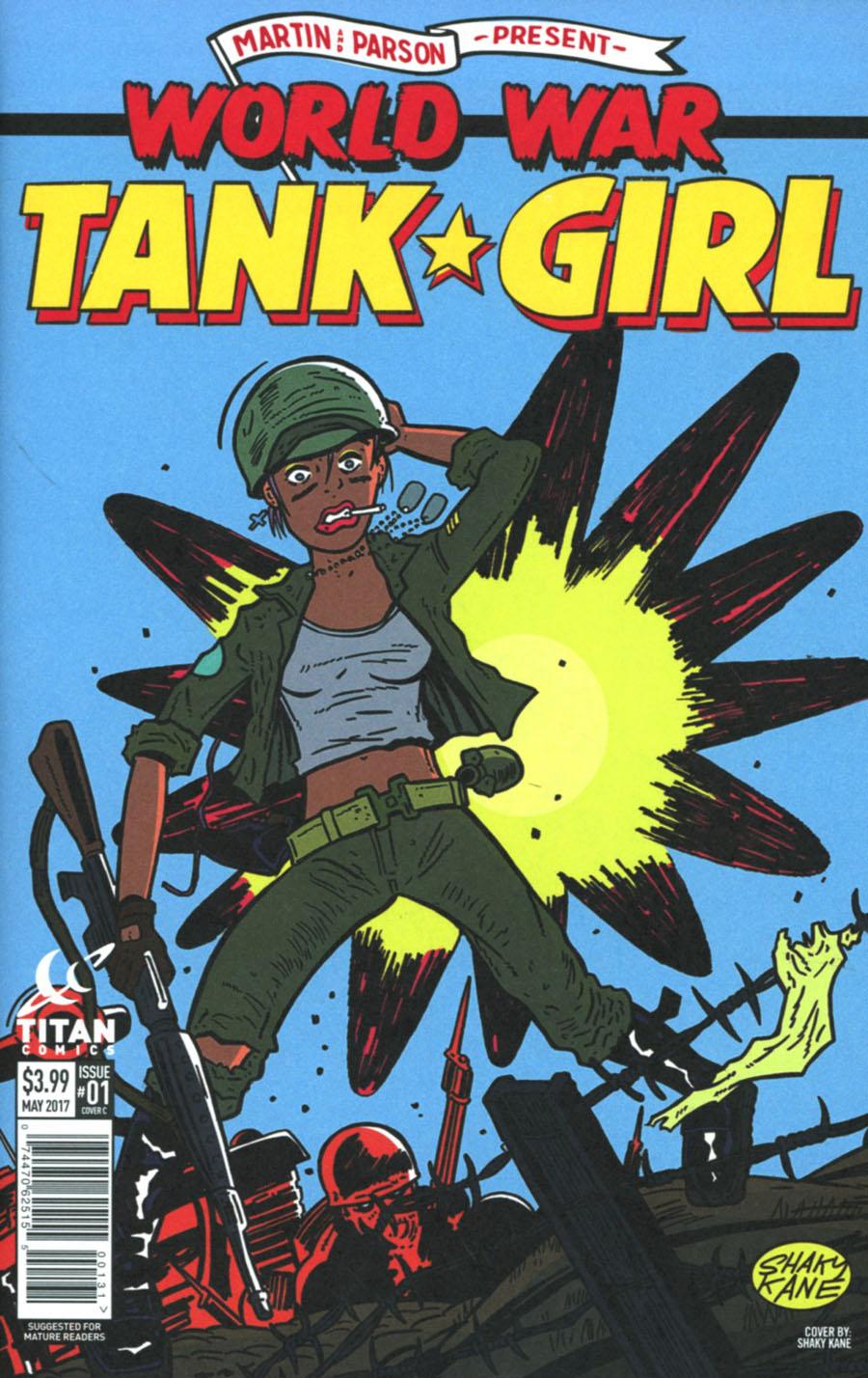 Tank Girl World War Tank Girl #1 Cover C Variant Shaky Kane Cover