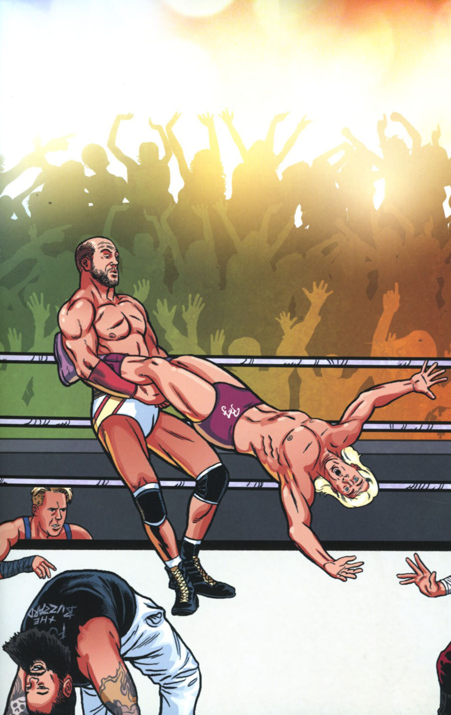 WWE #2 Cover C Variant Brent Schoonover Royal Rumble Connecting Cover