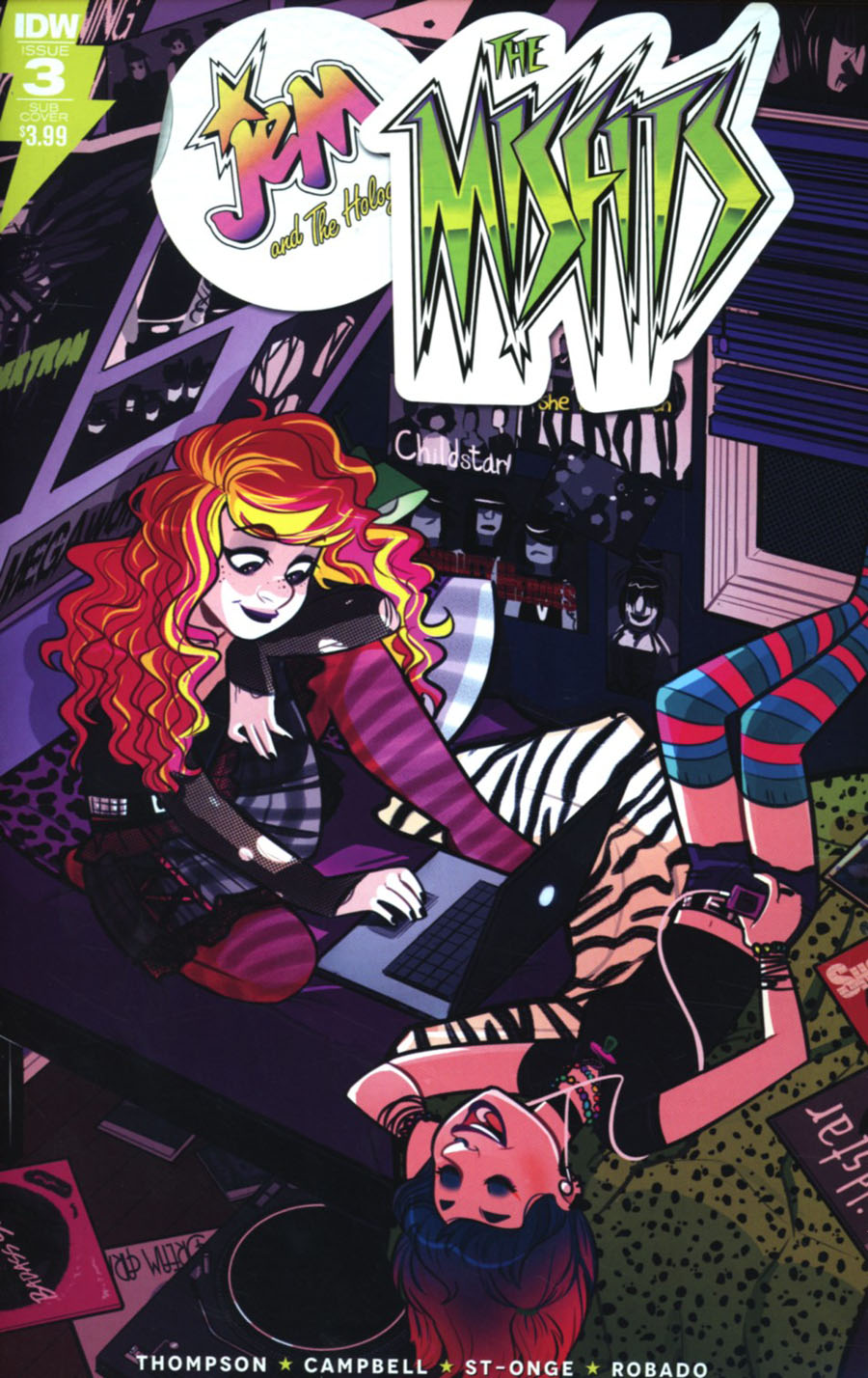 Jem And The Misfits #3 Cover B Variant Jenn St-Onge Subscription Cover