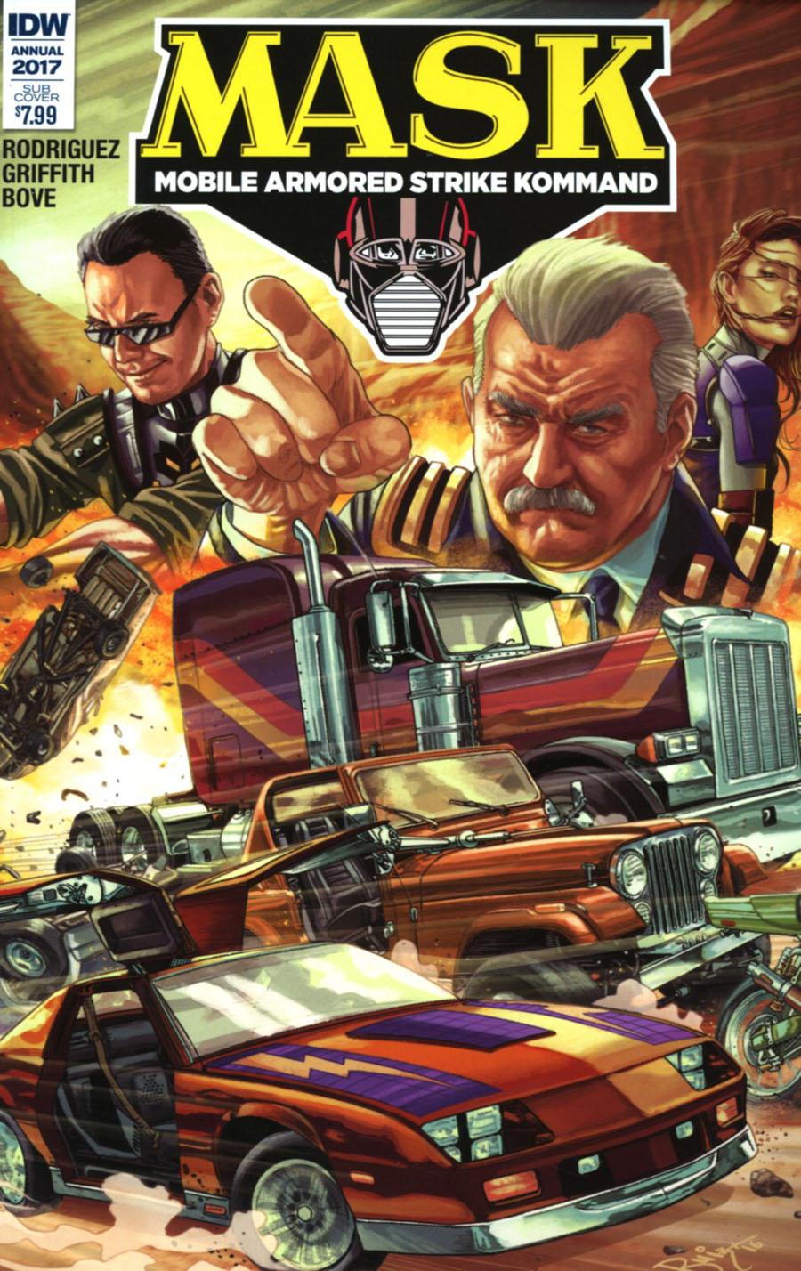 M.A.S.K. Mobile Armored Strike Kommand Annual #1 Cover B Variant Juan Carlos Ruiz Subscription Cover