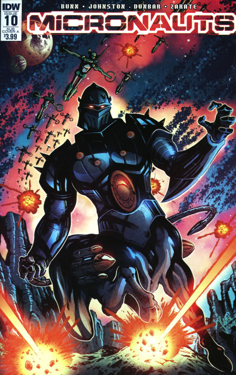 Micronauts Vol 5 #10 Cover B Variant Ron Joseph Subscription Cover