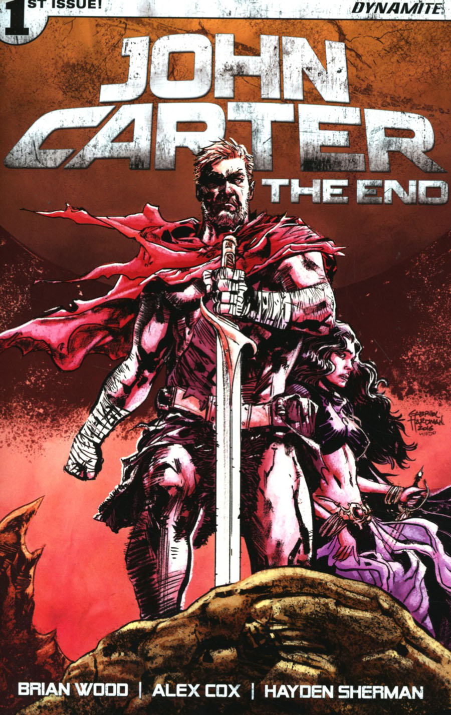 John Carter The End #1 Cover D Variant Gabriel Hardman Cover
