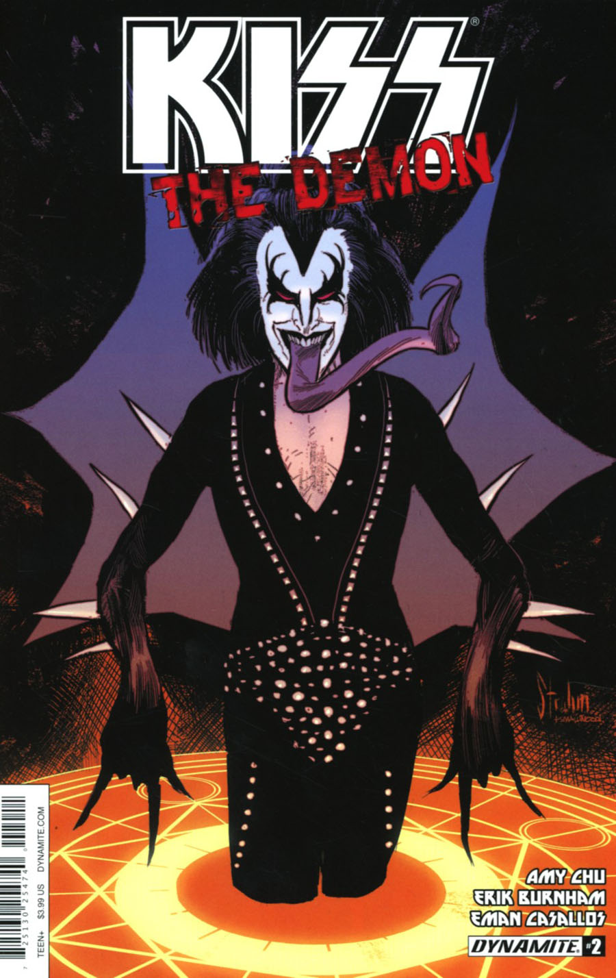 KISS The Demon #2 Cover A Regular Kyle Strahm Cover