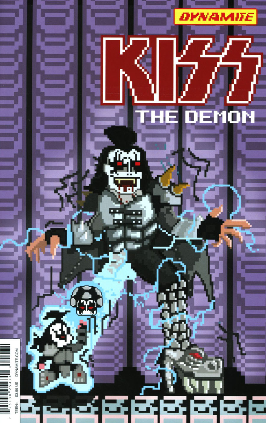 KISS The Demon #2 Cover C Variant Michael Adams 8-Bit Cover