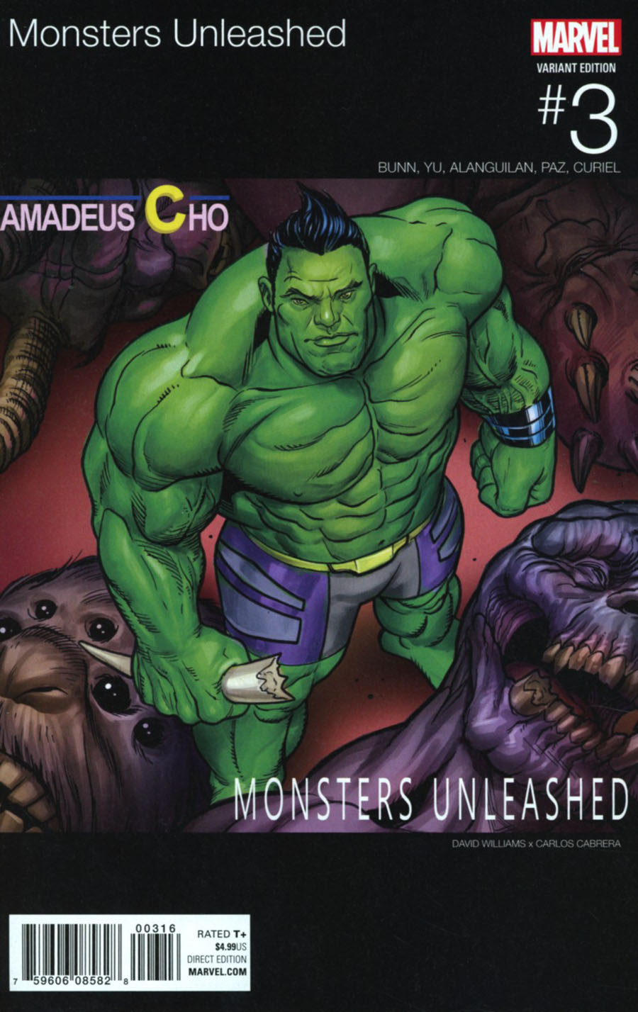 Monsters Unleashed #3 Cover E Variant David Williams Marvel Hip-Hop Cover
