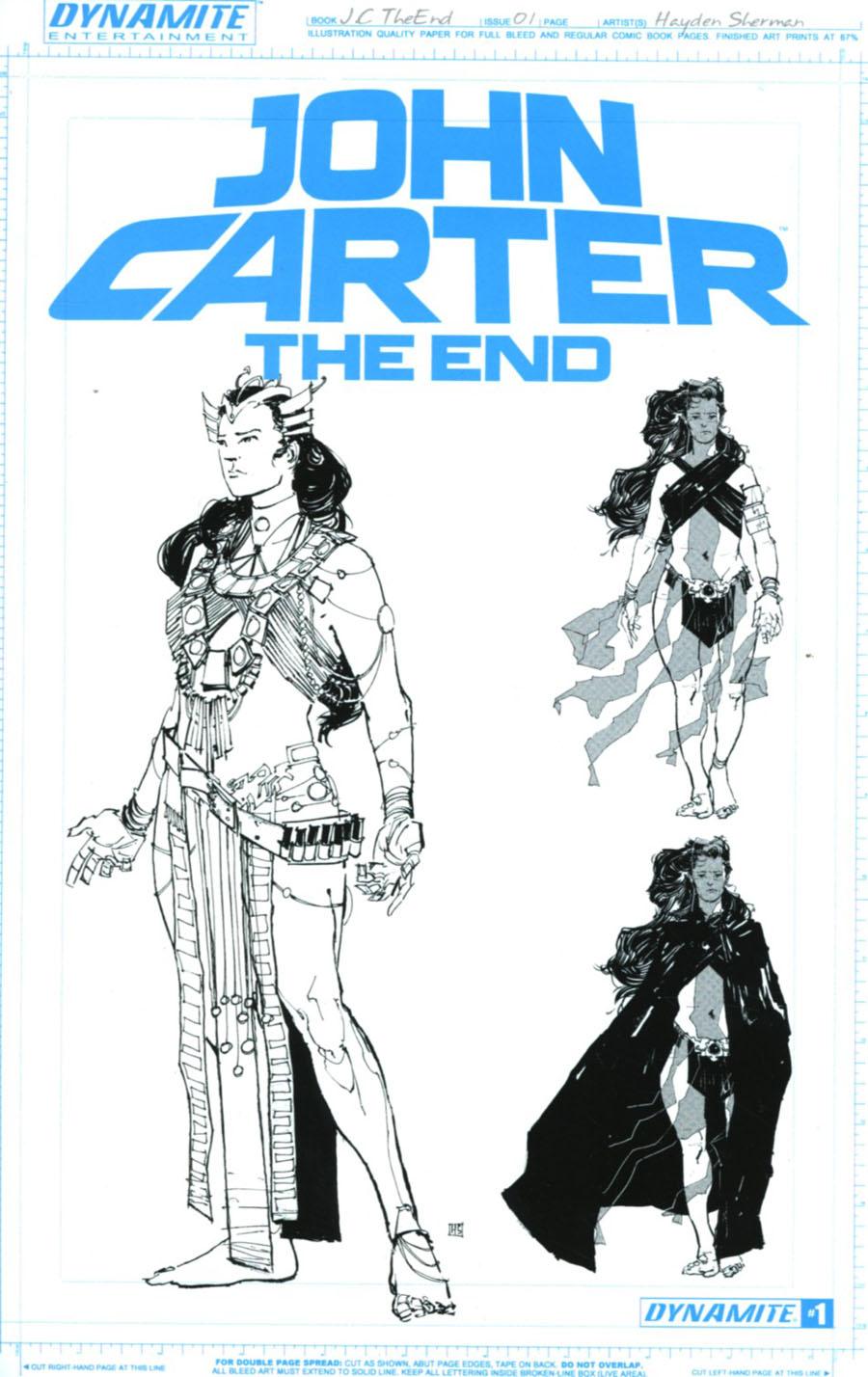 John Carter The End #1 Cover F Incentive Haydem Sherman Dejah Thoris Artboard Variant Cover