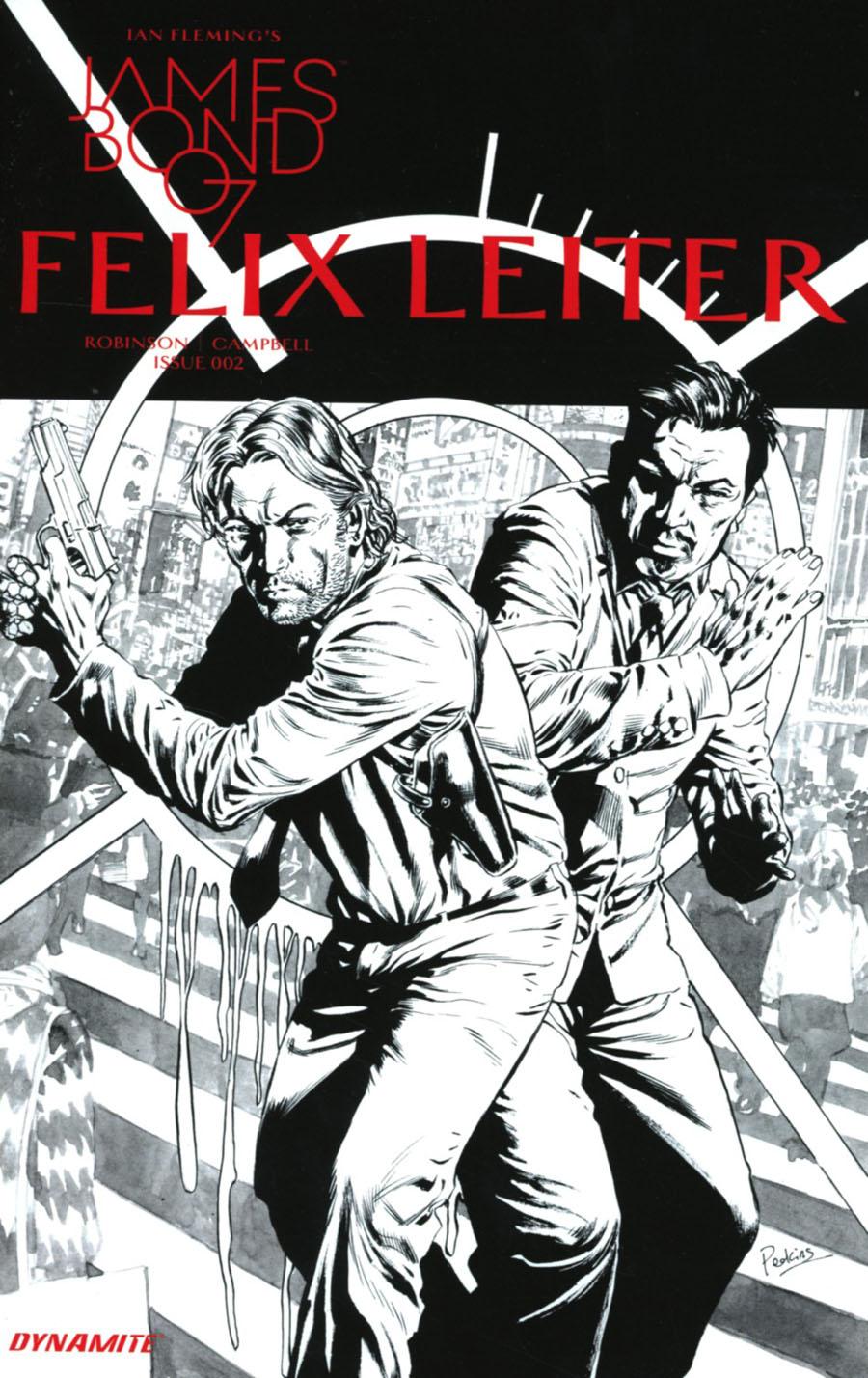 James Bond Felix Leiter #2 Cover B Incentive Mike Perkins Black & White Cover