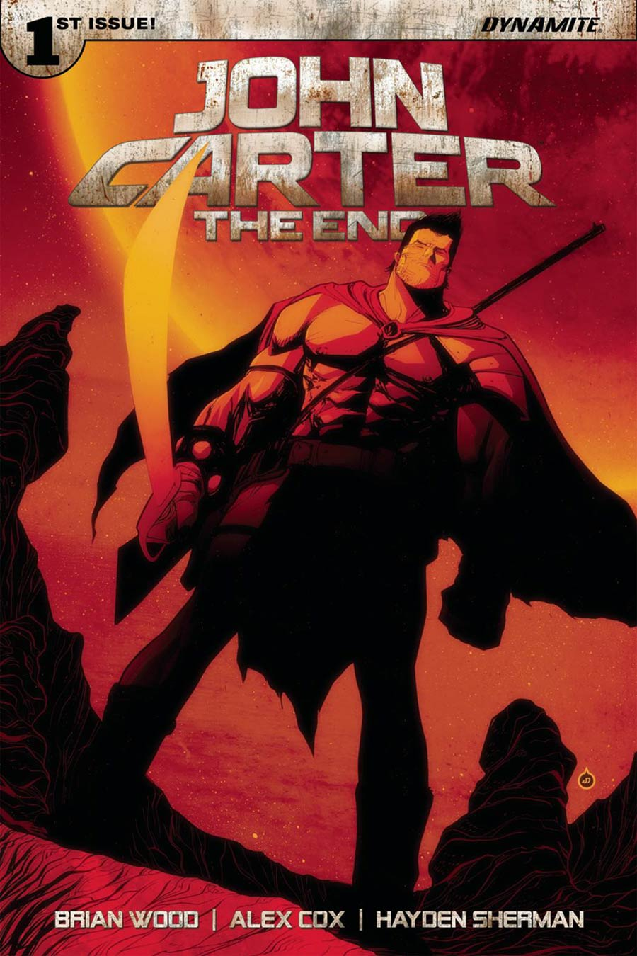 John Carter The End #1 Cover K Variant Juan Doe Cover Signed By Brian Wood
