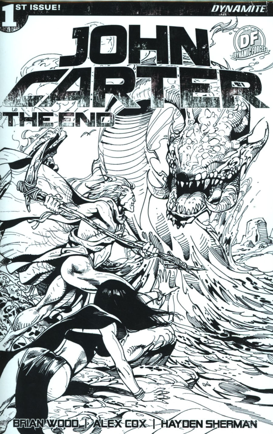 John Carter The End #1 Cover N DF Exclusive Roberto Castro Black & White Variant Cover