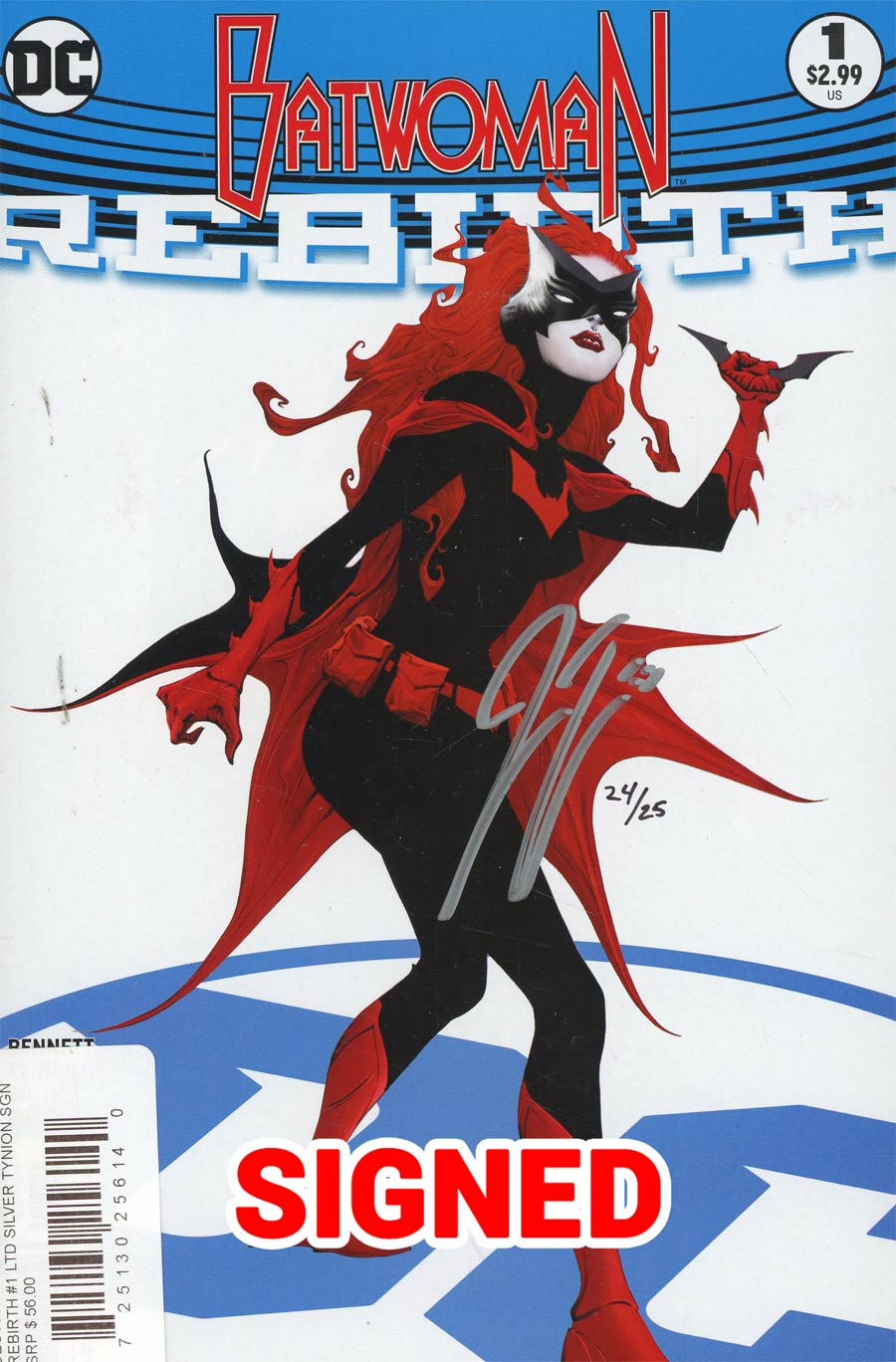 Batwoman Rebirth #1 Cover D DF Ultra-Limited Silver Signature Series Signed By James Tynion IV