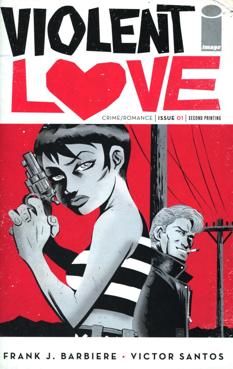 Violent Love #1 Cover E 2nd Ptg Victor Santos Variant Cover