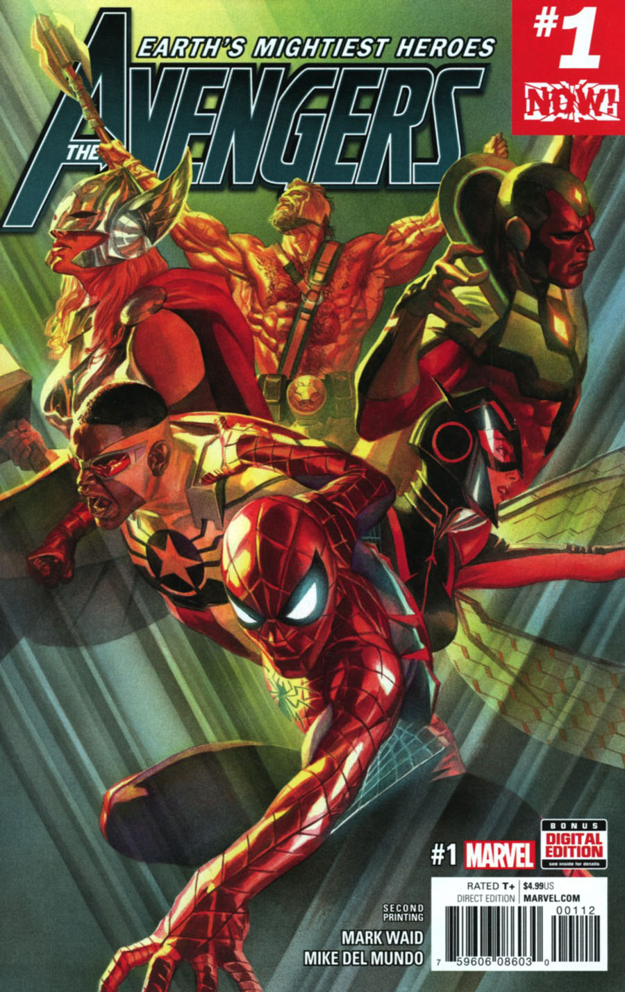 Avengers Vol 6 #1 Cover I 2nd Ptg Alex Ross Variant Cover (Marvel Now Tie-In)