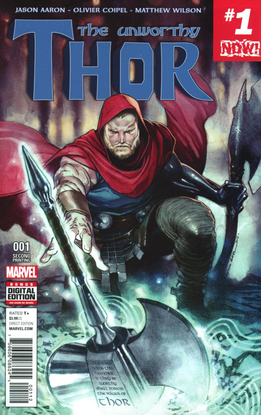 Unworthy Thor #1 Cover H 2nd Ptg Olivier Coipel Variant Cover (Marvel Now Tie-In)