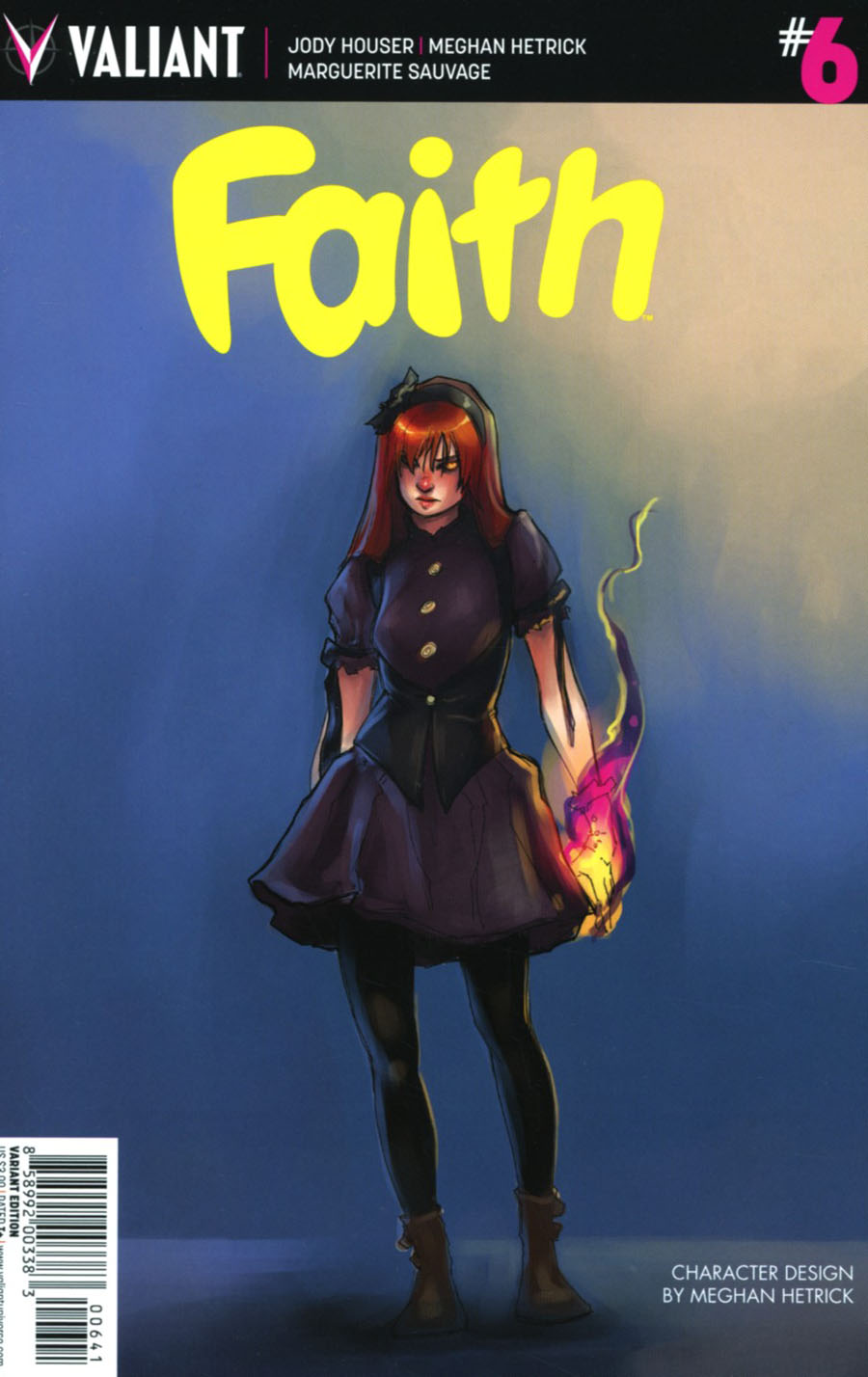 Faith (Valiant Entertainment) Vol 2 #6 Cover D Incentive Meghan Hetrick Character Design Variant Cover