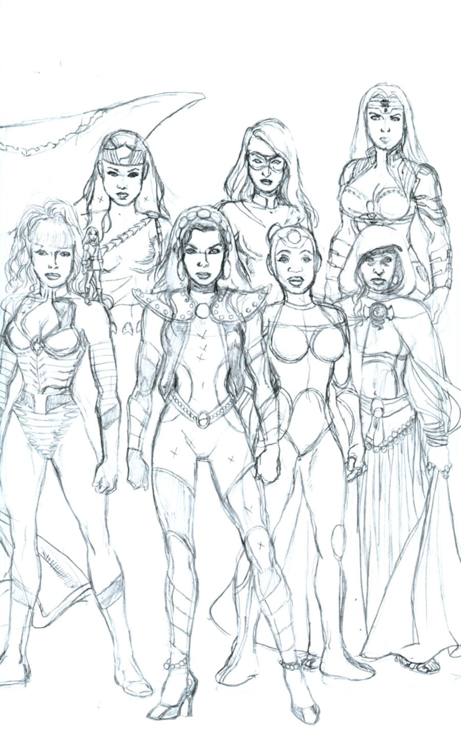 George Perezs Sirens #6 Cover C Incentive George Perez Connecting Sketch Cover (1 Of 2)