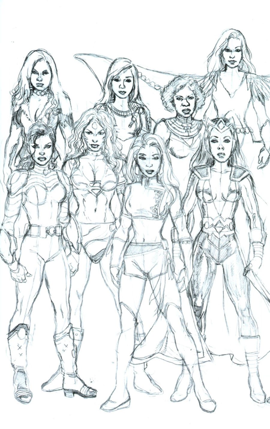 George Perezs Sirens #6 Cover D Incentive George Perez Connecting Sketch Cover (2 Of 2)