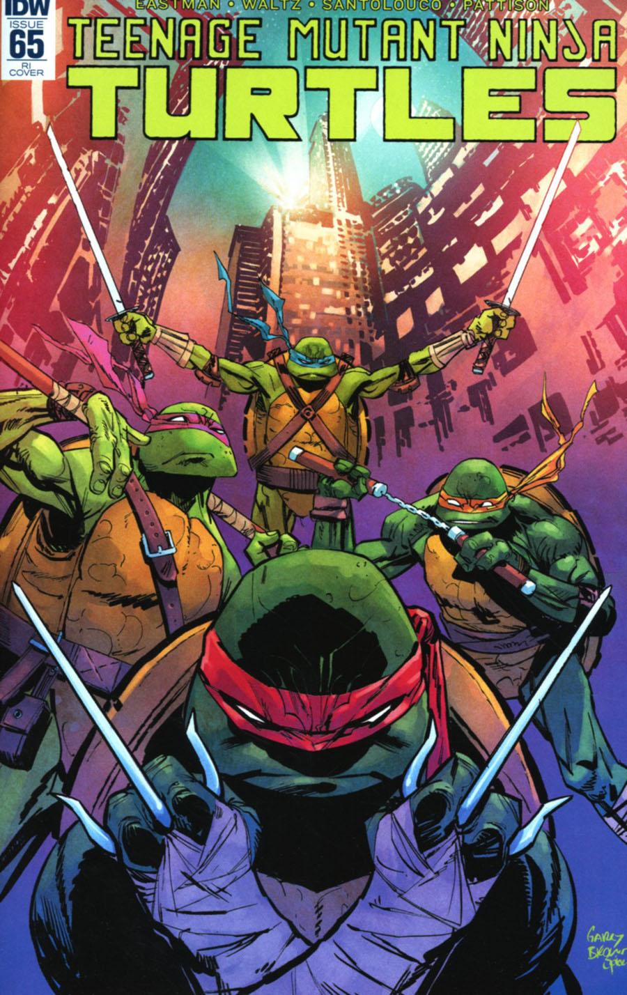Teenage Mutant Ninja Turtles Vol 5 #65 Cover C Incentive Garry Brown Variant Cover