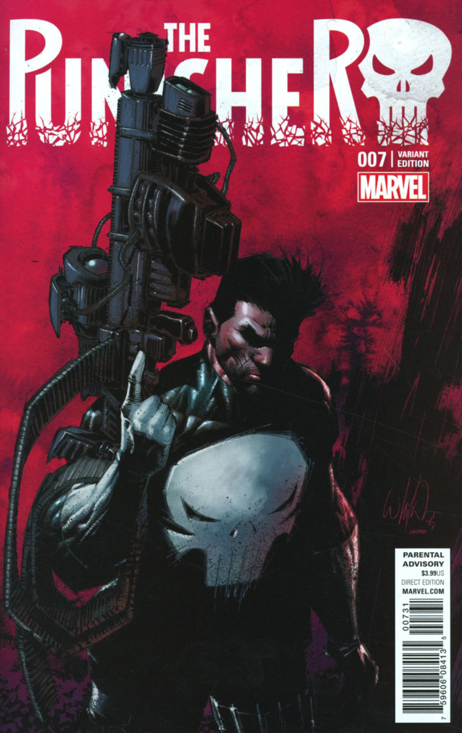 Punisher Vol 10 #7 Cover C Incentive Whilce Portacio Classic Variant Cover (Marvel Now Tie-In)
