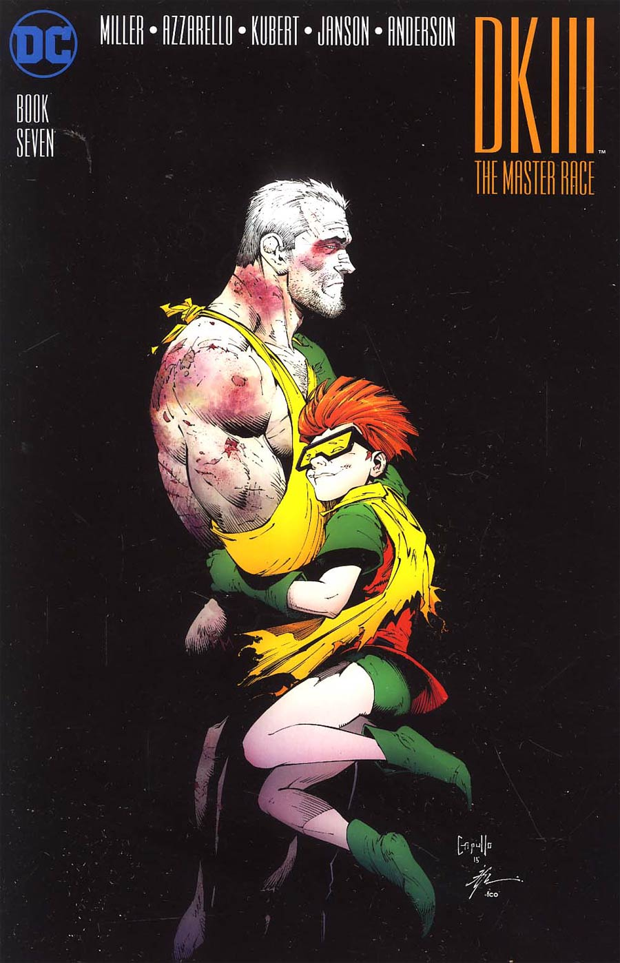 Dark Knight III The Master Race #7 Cover B Midtown Exclusive Greg Capullo Color Variant Cover