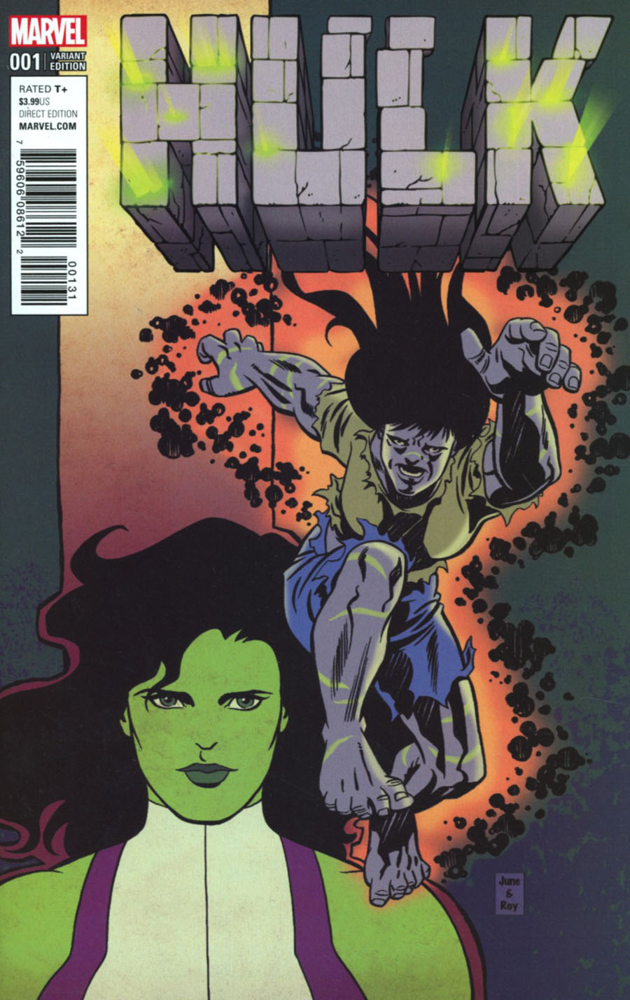 Hulk Vol 4 #1 Cover G Incentive June Brigman Classic Hulk Artist Variant Cover (Marvel Now Tie-In)