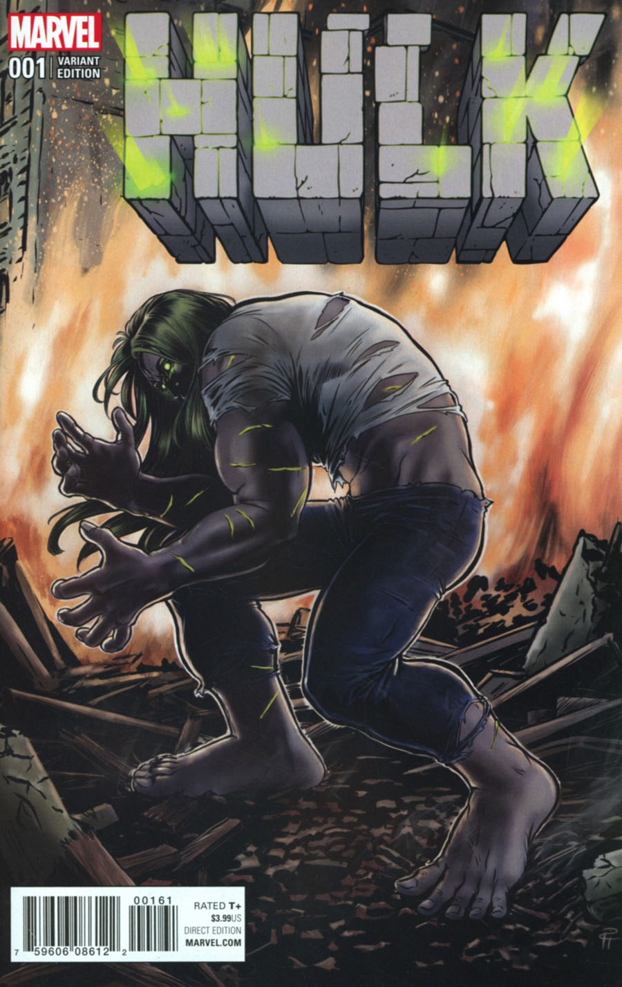 Hulk Vol 4 #1 Cover H Incentive Pia Guerra Artist Variant Cover (Marvel Now Tie-In)