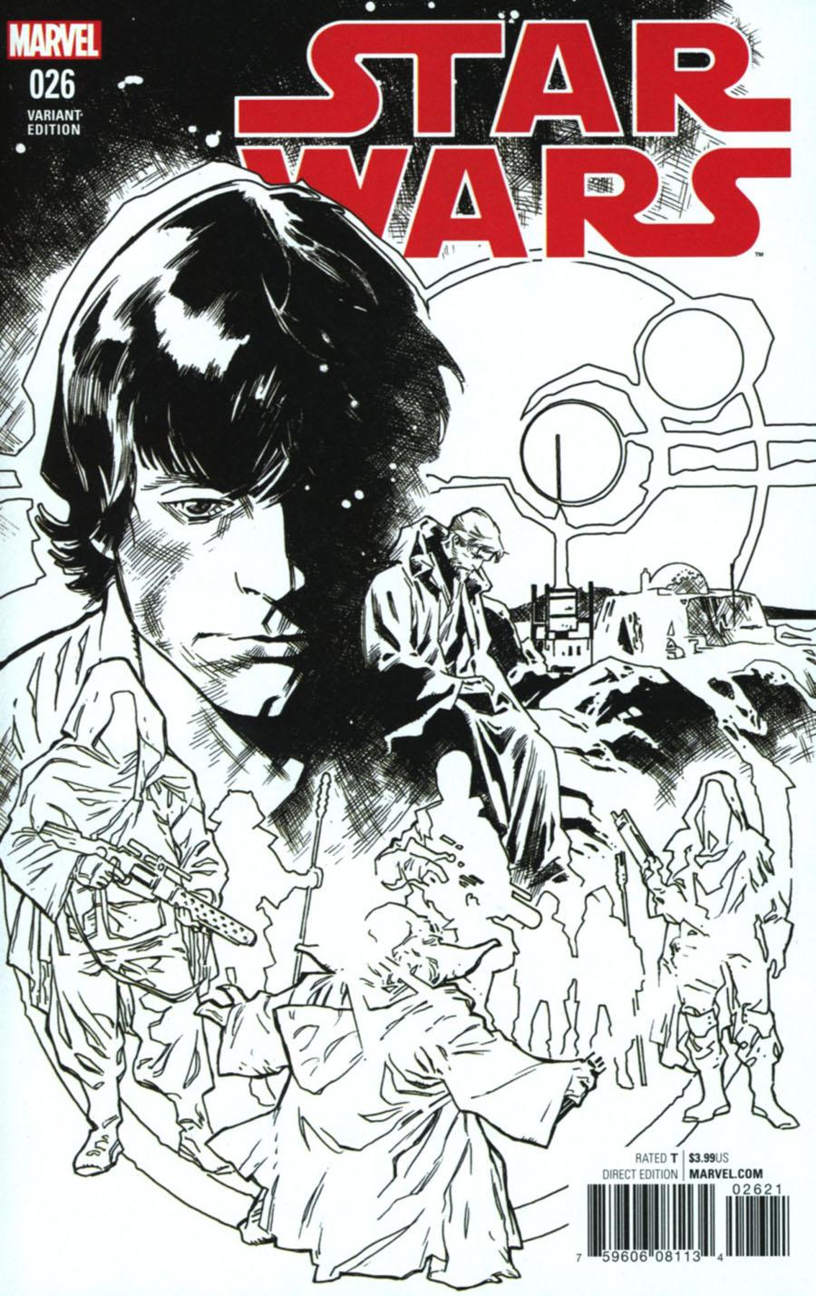 Star Wars Vol 4 #26 Cover C Incentive Stuart Immonen Black & White Cover