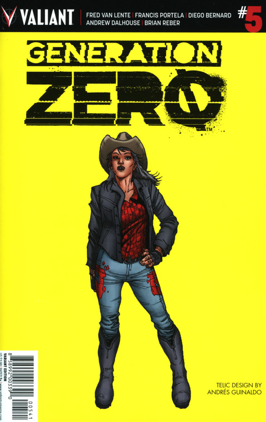 Generation Zero #5 Cover D Incentive Andres Guinaldo Character Design Variant Cover