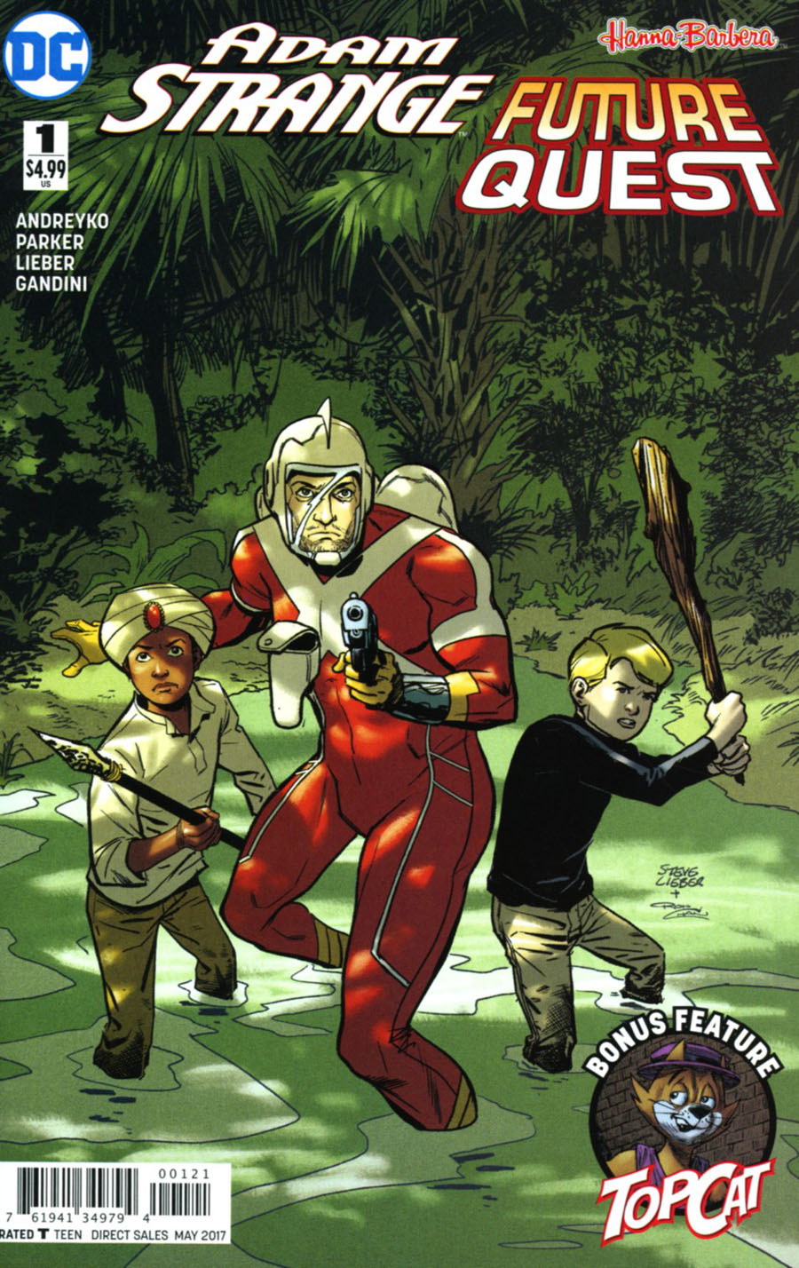 Adam Strange Future Quest Special #1 Cover B Variant Steve Lieber Cover