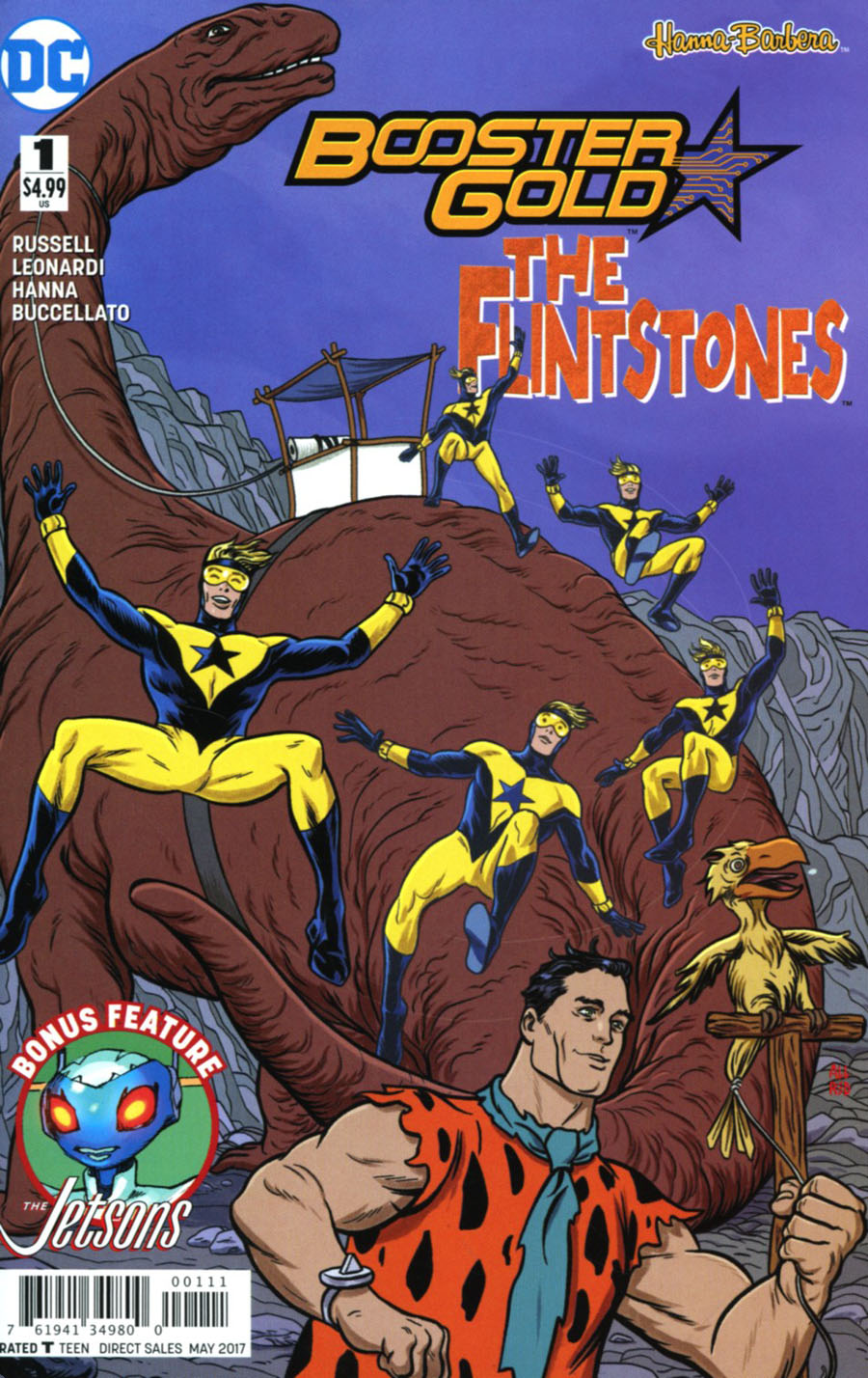 Booster Gold Flintstones Special #1 Cover A Regular Michael Allred Cover