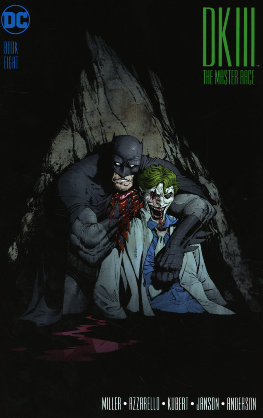 Dark Knight III The Master Race #8 Cover B Midtown Exclusive Greg Capullo Color Variant Cover