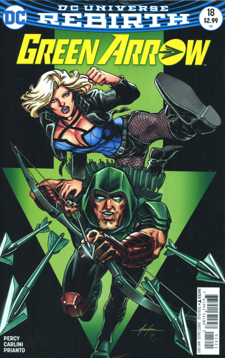 Green Arrow Vol 7 #18 Cover B Variant Mike Grell Cover With Polybag