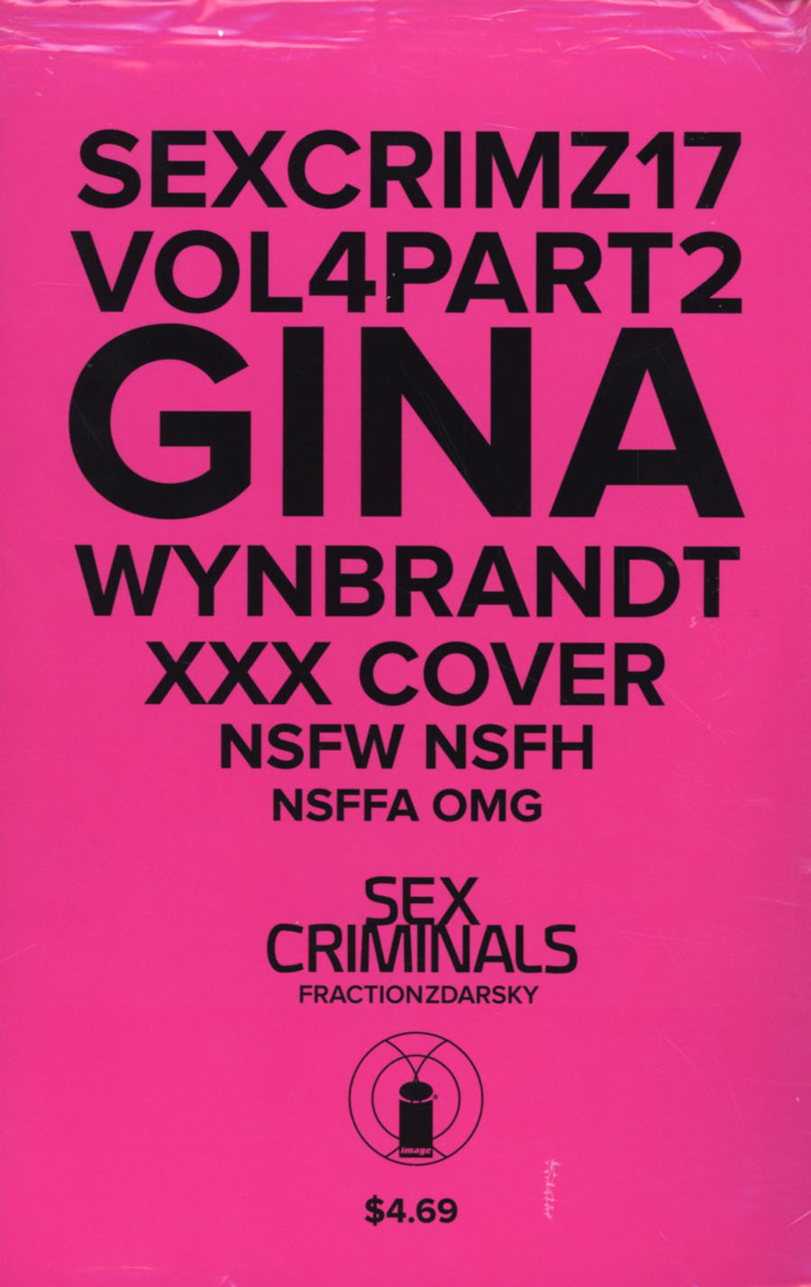 Sex Criminals #17 Cover B Variant Gina Wynbrandt XXX Cover With Polybag