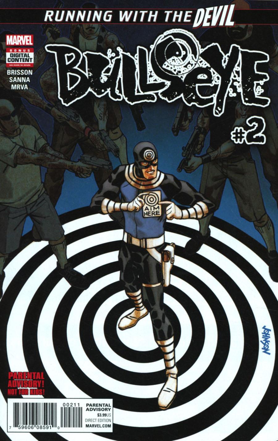 Bullseye #2 Cover A Regular Dave Johnson Cover