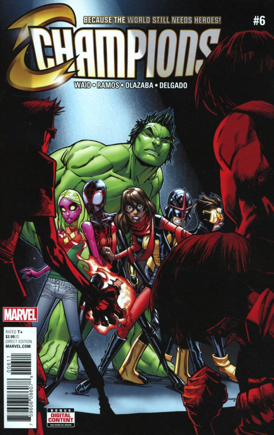 Champions (Marvel) Vol 2 #6 Cover A 1st Ptg Regular Humberto Ramos Cover