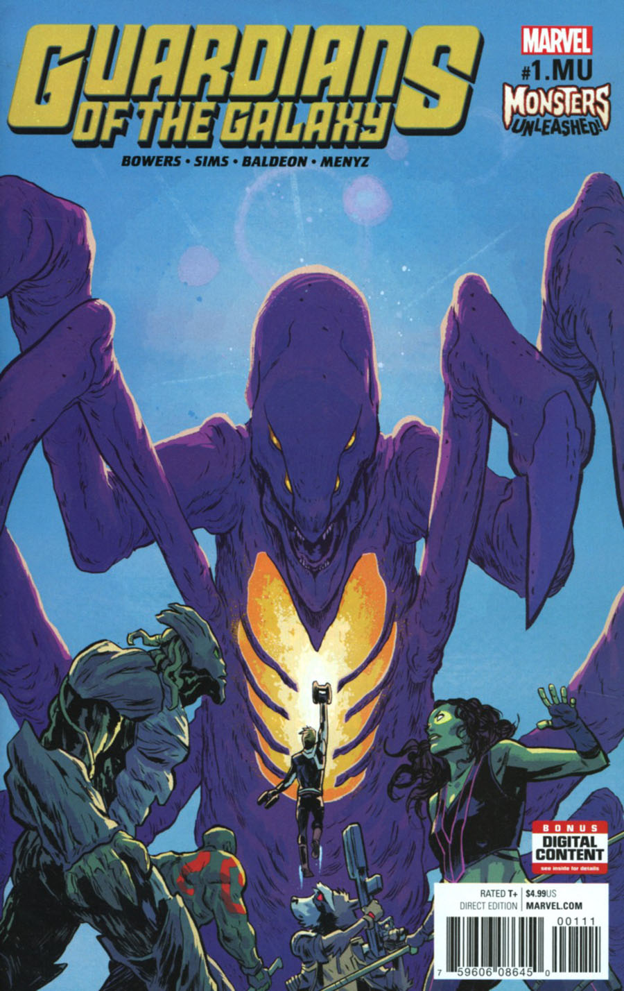 Guardians Of The Galaxy Vol 4 #1.MU Cover A Regular Michael Walsh Cover (Monsters Unleashed Tie-In)