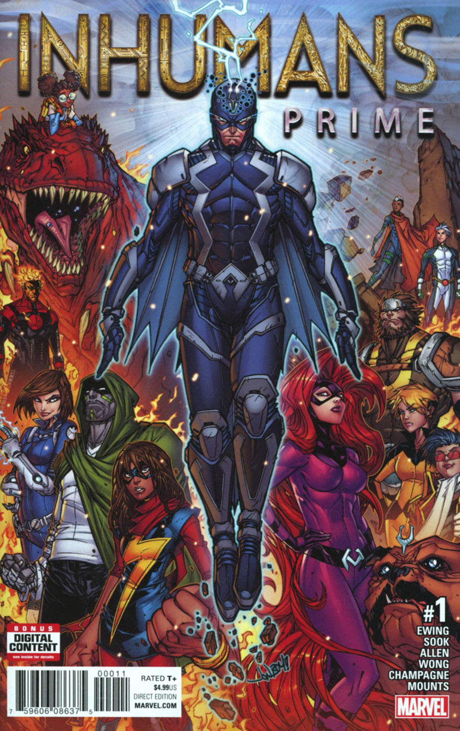 Inhumans Prime #1 Cover A 1st Ptg Regular Jonboy Meyers Cover (Resurrxion Tie-In)