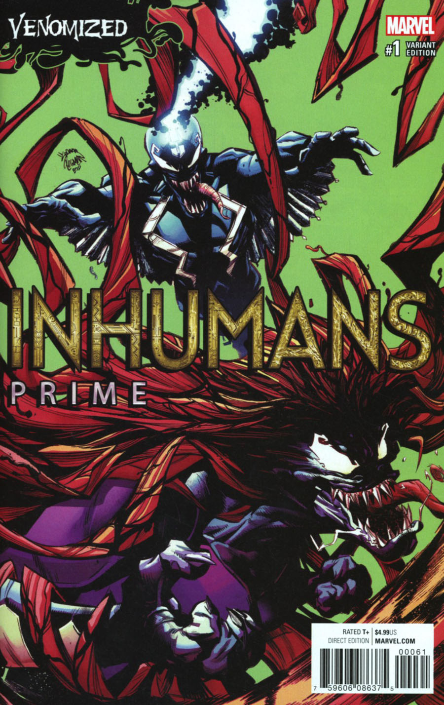 Inhumans Prime #1 Cover C Variant Ryan Stegman Venomized Cover (Resurrxion Tie-In)
