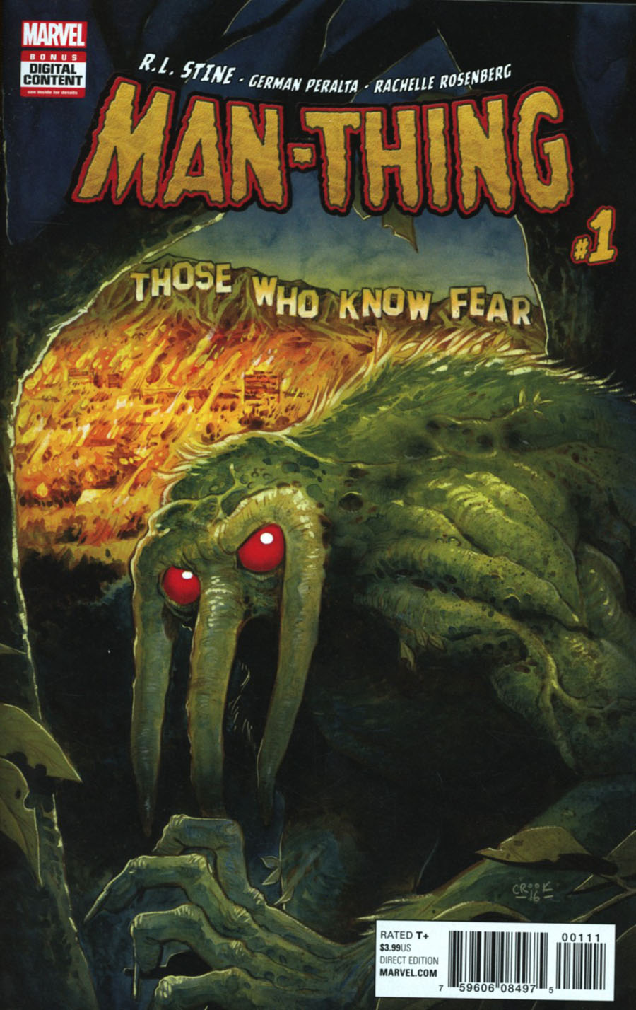Man-Thing Vol 5 #1 Cover A 1st Ptg Regular Tyler Crook Cover