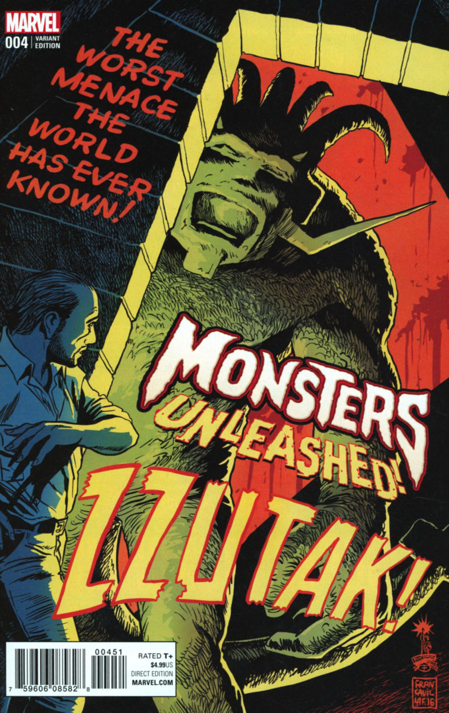 Monsters Unleashed #4 Cover C Variant Francesco Francavilla 1950s Movie Poster Cover