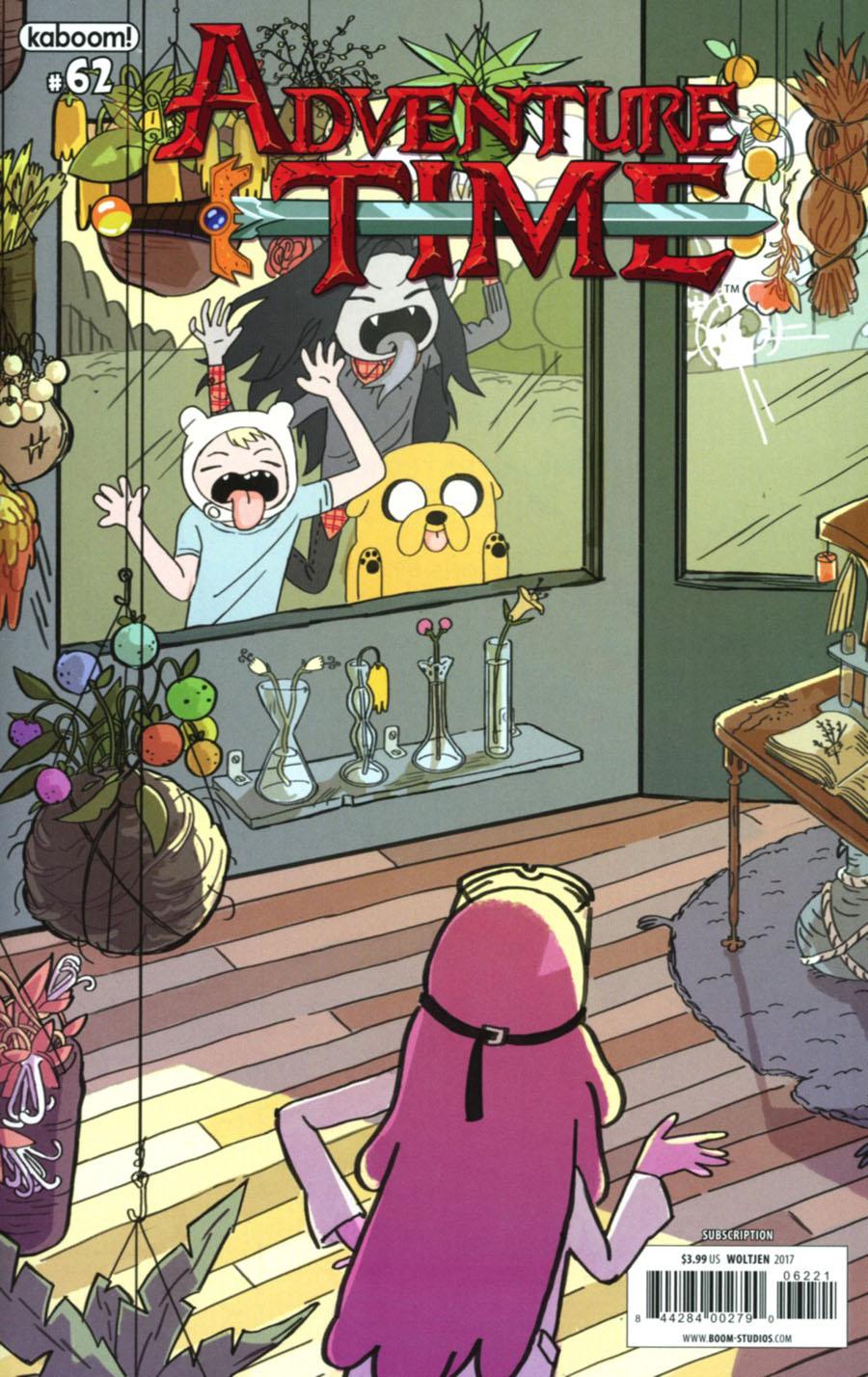 Adventure Time #62 Cover B Variant Brigitte Woltjen Subscription Cover